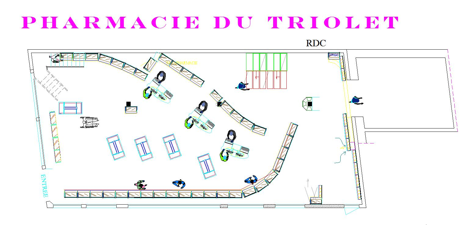 Plan de la pharmacie
