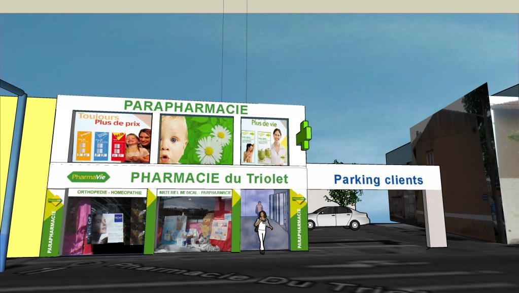 Projet facade pharmacie sete
